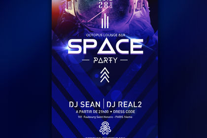 "Affiche ""Space Party"" (Music DJ)"