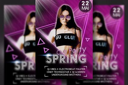 "Affiche ""Club Party"" (Music DJ)"