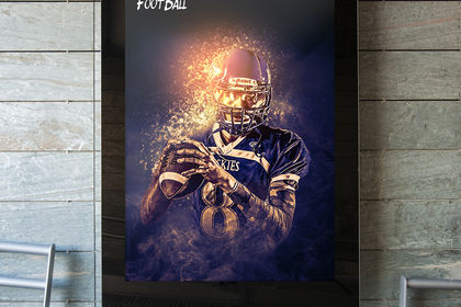 CREATIVE ART FOOTBALL POSTER
