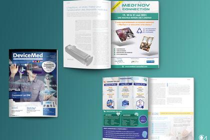 Encart publicitaire A4 recto/verso pour Magazine