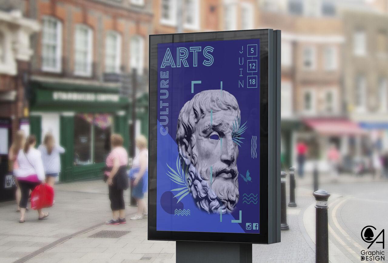"""Affiche """"Arts & Culture"""""""
