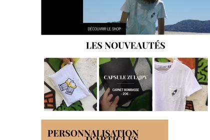 Site internet e-shop marque de vêtements