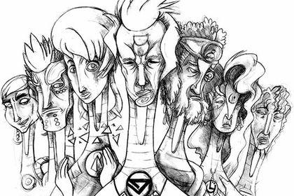 Groupe de divinités aux pouvoirs immenses