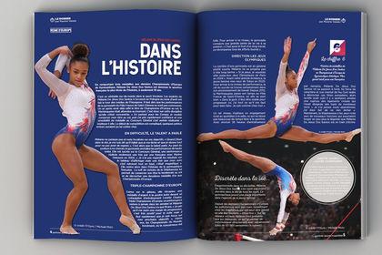 Mise en Page Magazine sportif