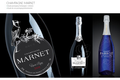 Projet packaging Champagne