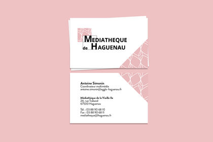 Carte de visite Médiathèque de Haguenau