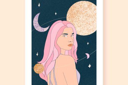 Illustration - La lune et le soleil