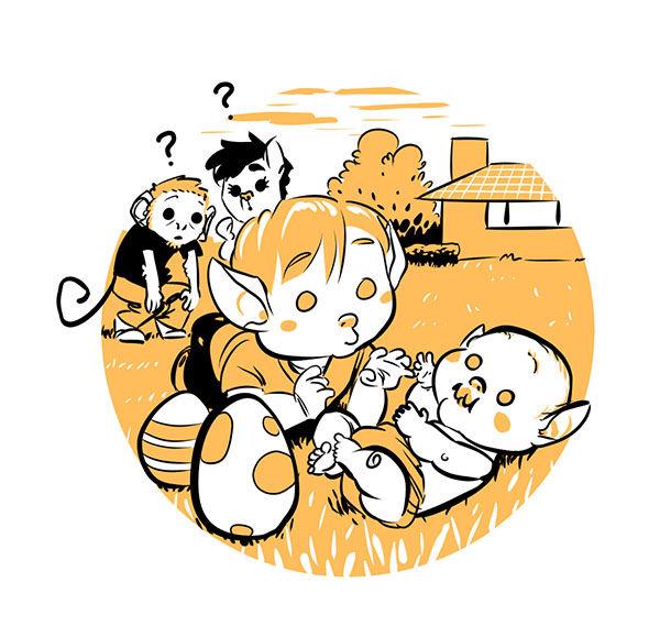 Illustration pour un faire-part de naissance