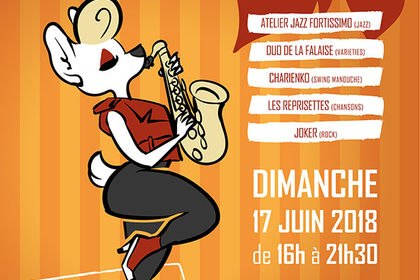 Affiche fête de la musique Château Thébaud