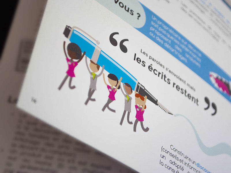Illustration mise en page et couverture d'un guide