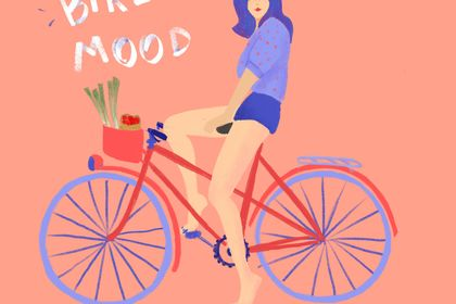 In the bike mood - Illustration
