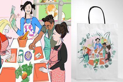 Illustration Cours de cuisine