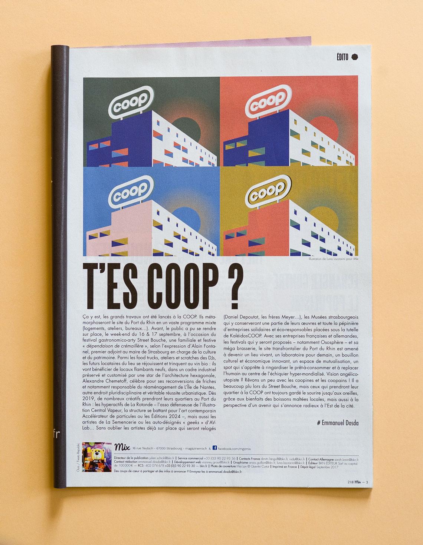 Édito Mix magazine, illustrations