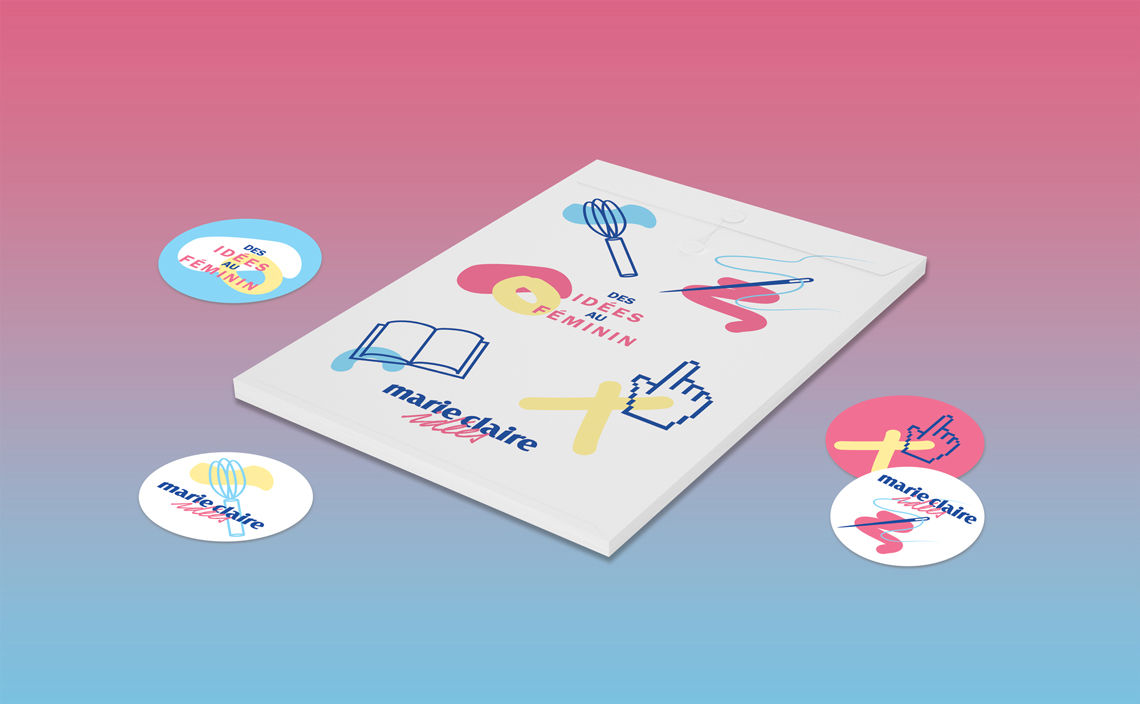 Marie claire, pochette & stickers