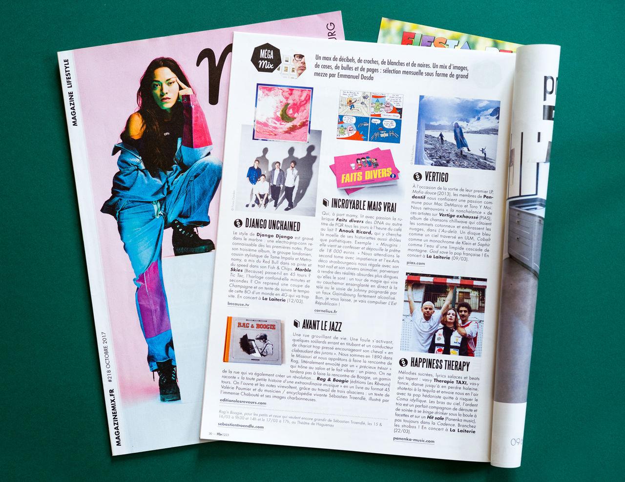 Magazine Mix, conception et mise en page