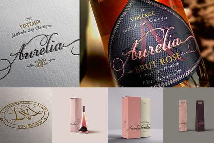 AURELIA: logo & label design, packaging design