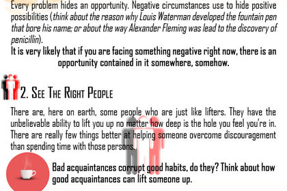 How to deal with Discouragement complete infograph