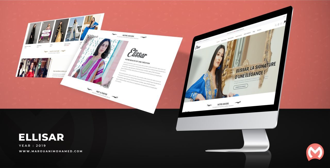 ELLISAR : Design Interface site web
