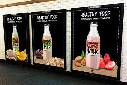 Lait végétal packaging + affiches