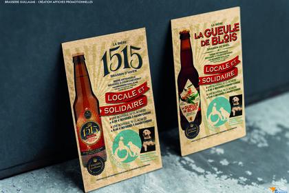 Affiche promotionnelle bière