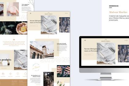 Maison Marius - Webdesign