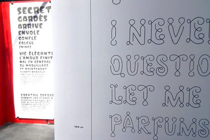 Revival de police de caractère, typographie de cir