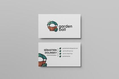 Garden Ball - Carte de visite + logo
