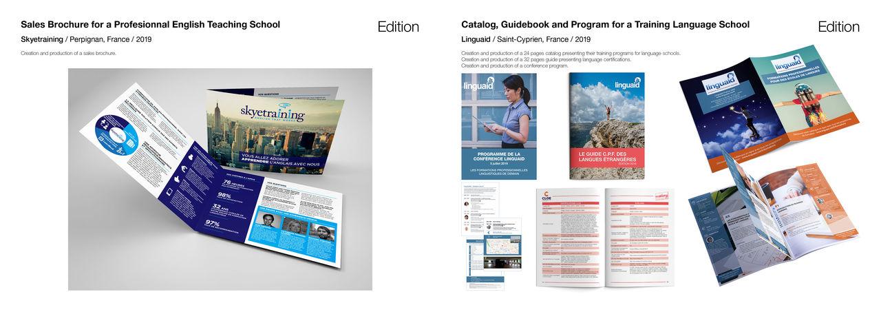 Plaquette, catalogue, guide et brochure