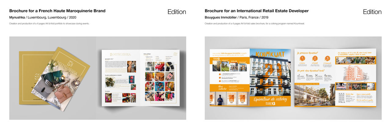 Brochures 4 pages