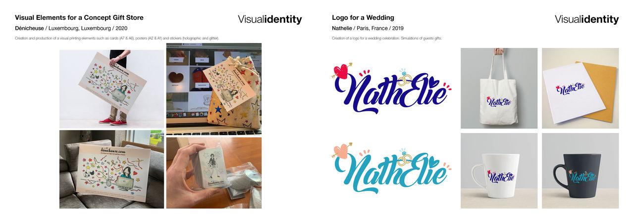 Affiches, cartes et stickers + Logo mariage
