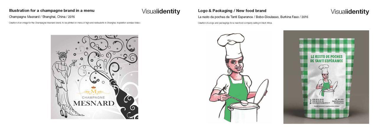 Publicité et packaging pour le F&B