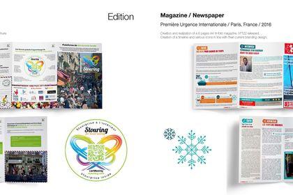 Plaquette 6 volets et magazine