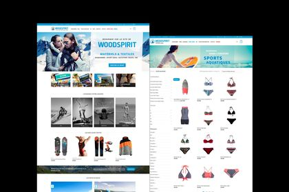 "Site web ""Woodspirit Store"""