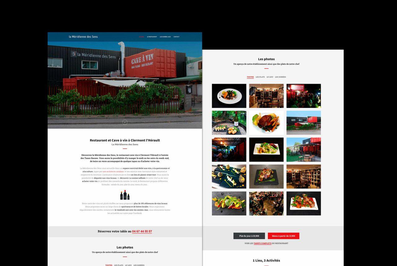 """Site web """"La Méridienne des Sens"""""""