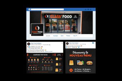 """Design Réseaux sociaux """"Class'Food"""""""