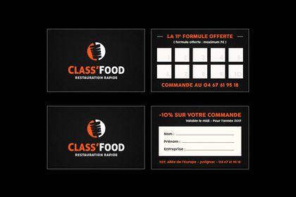 """Cartes de fidélité """"Class'Food"""""""