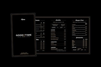 """Menu dépliant """"Good Time"""""""