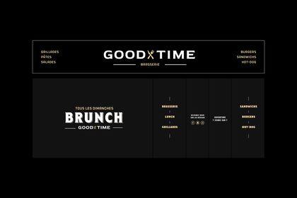 "Design devanture ""Good Time"""