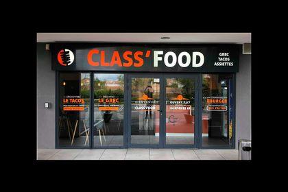 """Design devanture """"Class Food"""""""