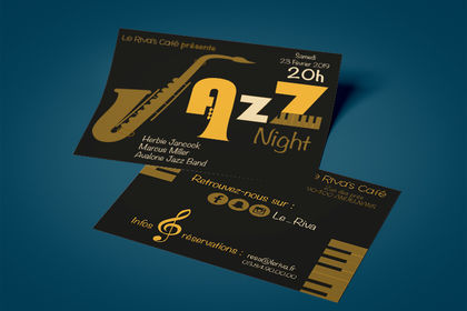Flyer soirée de Jazz