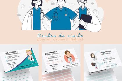 Cartes de visite d'un centre médical