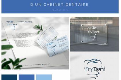 Identité visuelle du cabinet dentaire du Dr. Fryde