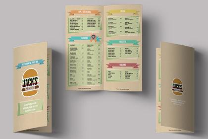 Logo et mise en page d'un menu