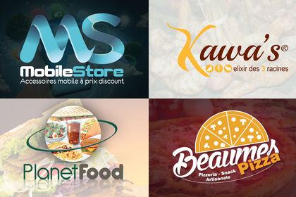 Différents logos que j'ai réalisé