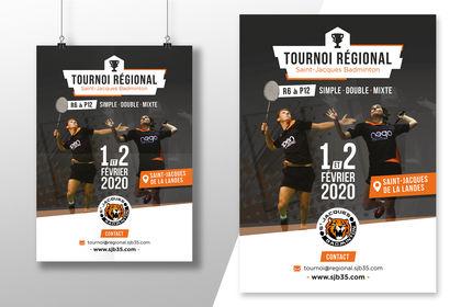 Affiche Tournoi Badminton