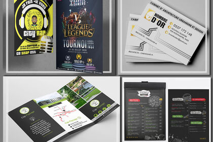Création de flyers, carte de visite et autres