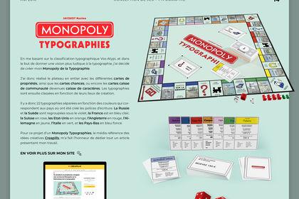 Monopoly Typographies