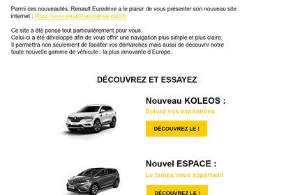Emailing Renault Eurodrive