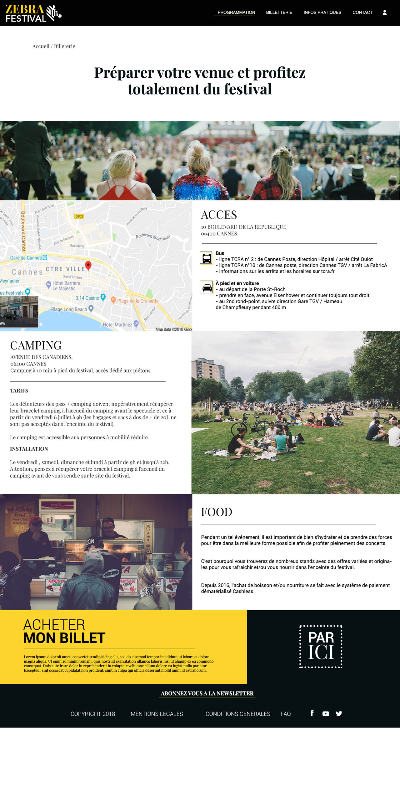 Page Web info
