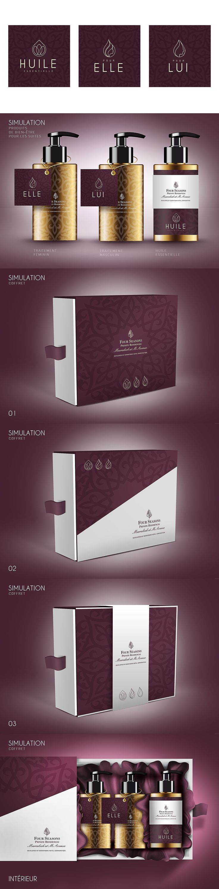 Conception logo & packaging d'huiles essentielles